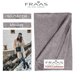 FRAAS Jersey Knit 100% Cashmere Scarf Wrap